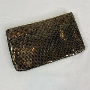 Whiting and Davis vintage clutch bronze gold 9 x 5